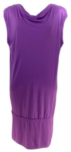 BCBGMAXAZRIA short dress Orchid #drapeneck on Tradesy