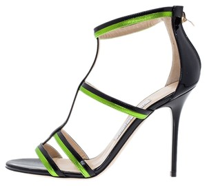 Jimmy Choo Black/Green Sandals