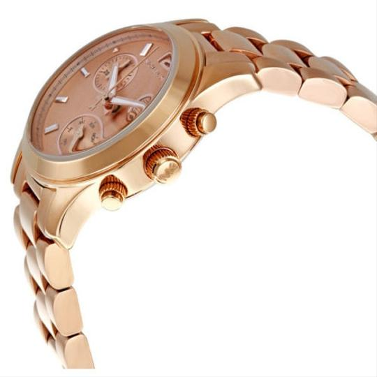 Michael Kors Stainless Steel Rose Gold Tone Casual Classic Ladies Watch