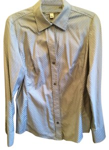 Banana Republic Button Down Shirt Gray, silver