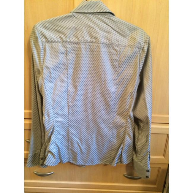 Banana Republic Fitted Button Down Shirt Gray, silver