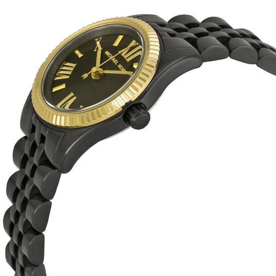 Michael Kors Classic Dress Watch Black Ion Plated Small Round Dial Ladies Watch