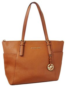 Michael Kors Luggage Saffiano Leather Double Handles Fully Lined Tote