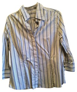 Express Button Down Shirt Blue, black, yellow
