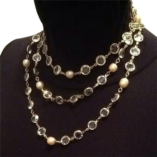 Chanel Chanel Vintage Crystal And Pearl Necklace