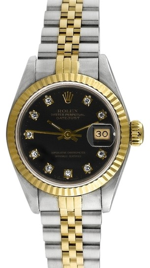 Rolex Rolex Datejust 18K Yellow Gold and Steel Custom Diamond Dial Ladies' Watch