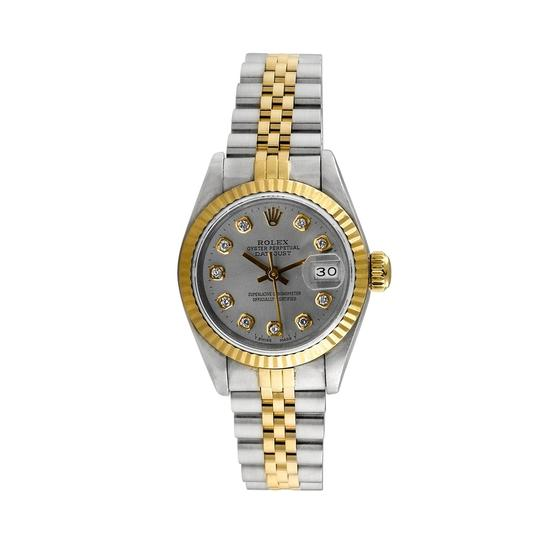 Rolex Rolex DateJust 18K Yellow Gold and Steel Custom Diamond Ladies Watch