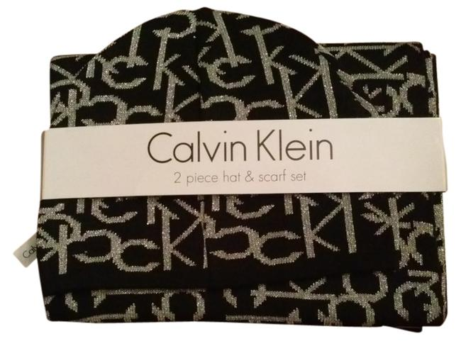 Item - Black and Silver Price Reduction: Ck Set Scarf/Wrap