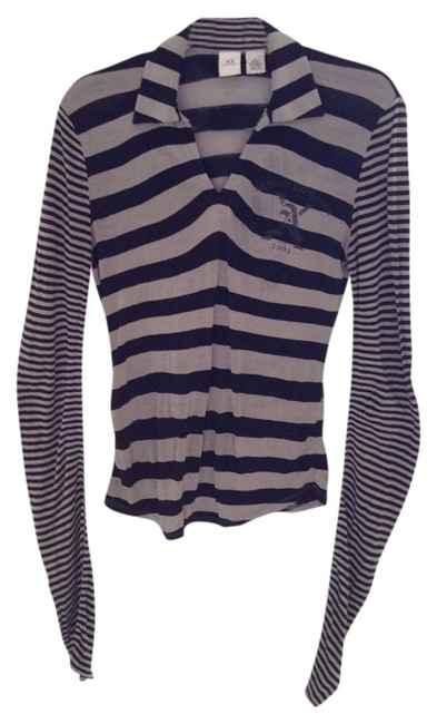 Preload https://item1.tradesy.com/images/ax-armani-exchange-grey-and-black-night-out-top-size-4-s-539185-0-0.jpg?width=400&height=650