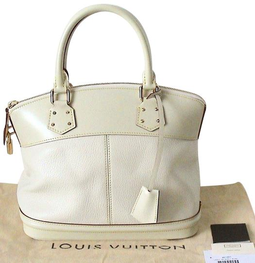 Louis Vuitton Luxurious Classic & Timeless Rare Goat Leather Made In Suhali Lockit Pm Tote in Blanc / Cream