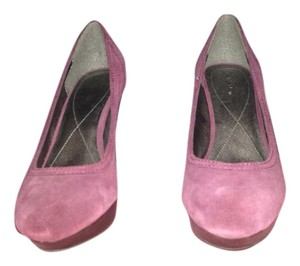 Calvin Klein Platform Suede Leather Casual purple Pumps