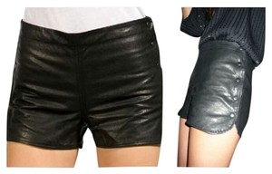 Sophomore Leather Dress Shorts Black