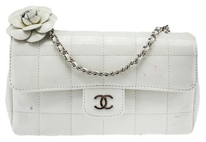 Chanel Camellia Quilted Patent Shoulder Bag