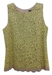 Ann Taylor Lace Top Yellow, Beige