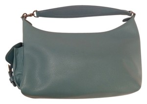 Longchamp Pebble Leather Inside Pockets Made In France Storage Satchel in Sky Blue