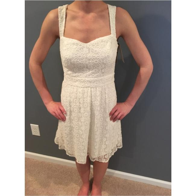 Francesca's short dress white on Tradesy