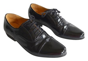 Swear Patent Patent Leather Oxford Black Flats