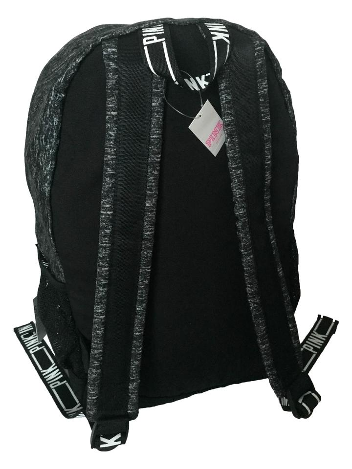 5dead52bbbf0e PINK Victoria's Secret Campus Bookbag Grey Marl Black Backpack