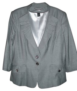 White House | Black Market 3/4 Sleeves Grey Blazer