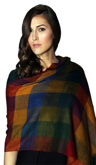 Brooks Brooks & Ian Plaid Lightweight Shawl 100% Pashmina