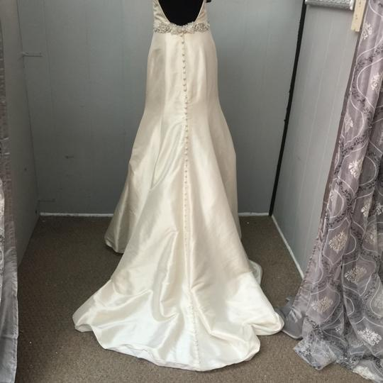 Allure Bridals Champagne Satin Wedding Dress Size 6 (S) Image 2