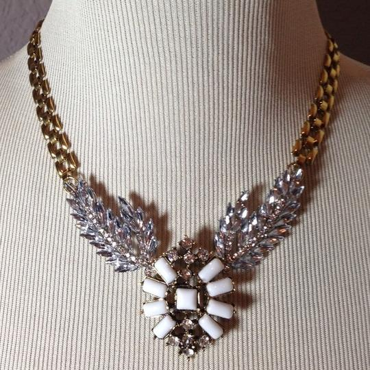 Other White Wheat Wing Statement Necklace