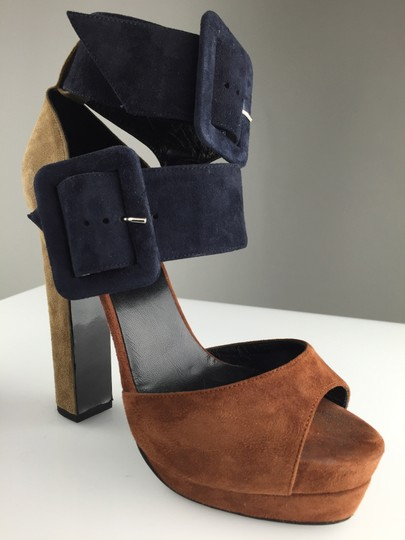 Pierre Hardy Suede Sandals Platforms