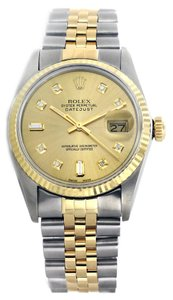 Rolex Rolex Datejust 36mm Stainless Steel and Yellow Gold Champagne Diamond Watch