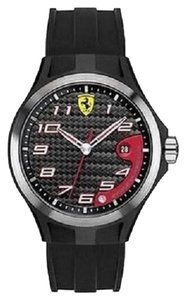 Ferrari Ferrari 830012 Watch Scuderia Mens Lap Time Rubber Strap Black Dial