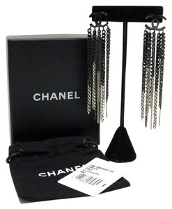 Chanel Chanel Cruise 2014 Collection Ruthenium Chain Earrings