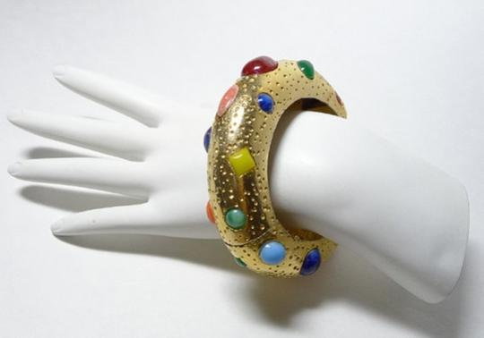 Kenneth Jay Lane Authentic Kenneth Jay Lane Vintage Gemstone Bangle Bracelet Ultra Rare Collectors Item