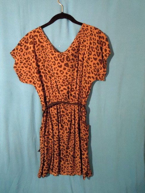 Xhilaration short dress black and gray cheetah on Tradesy