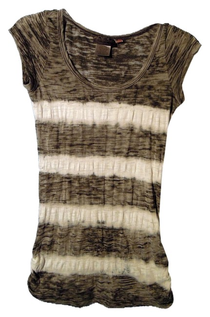 Realitee Clothing Top gray and white
