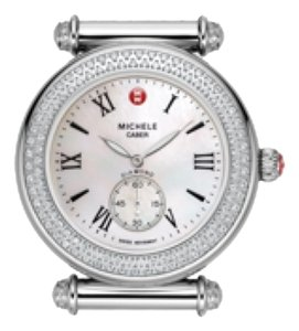 Michele BRAND NEW MICHELE CABER MOTHER OF PEARL & DIAMOND SILVER TONE ( comes with 2 bands of alligators)