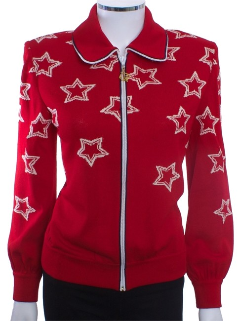 Preload https://item3.tradesy.com/images/st-john-red-collection-white-stars-knit-sweater-small-cardigan-size-6-s-5396152-0-0.jpg?width=400&height=650