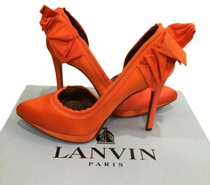 Lanvin Orange Pumps