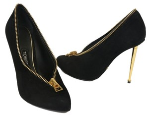 Tom Ford Gucci Zipper Versace Monogram Metal Black Pumps
