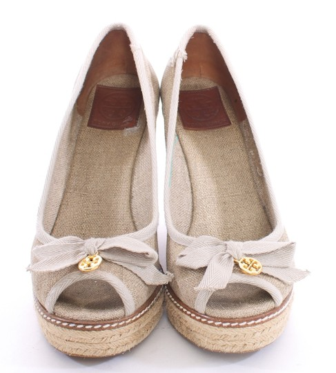 Tory Burch Canvas GOLD FLECK Wedges