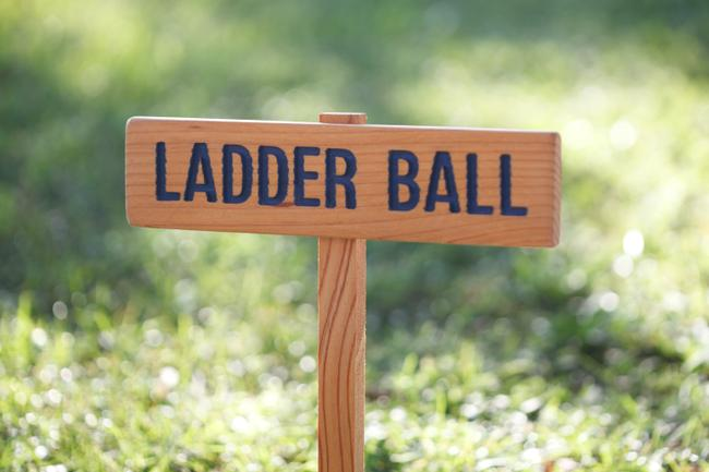 Item - Navy Blue Lawn Game Signs
