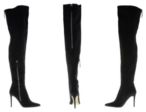 Tony Bianco Black Suede Leather Boots