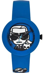 Karl Lagerfeld Karl Lagerfeld Toki Doki Blue Silicone Black IP Steel Watch KL2212