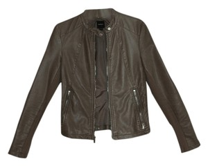 Express Faux-leather Tan Leather Jacket