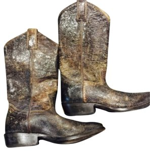 Frye Distressed dark brown leather Boots