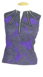 Proenza Schouler Top purple and black brocade