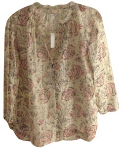 Madewell Top Cream Floral Multi