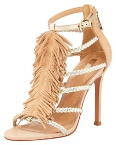 SCHUTZ Light Tan/Gold Sandals