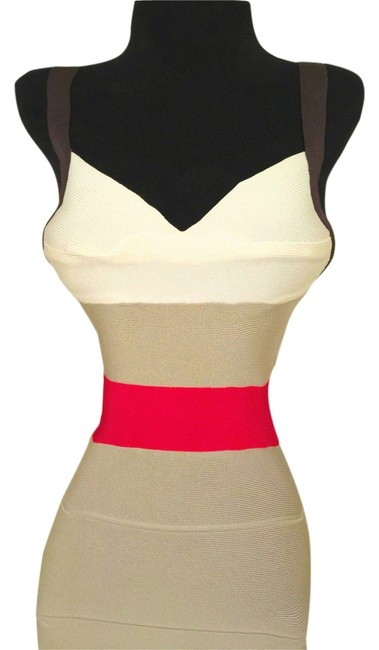 Hervé Leger Bodycon Sexy Spaghetti Fitted Dress
