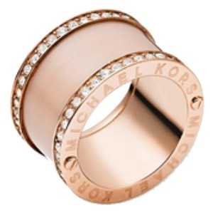 Michael Kors Blush Pave Barrel Ring