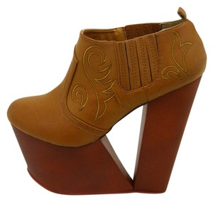 Haute & Rebellious Wooden Western Boho Bohemian Brown - painted Platforms