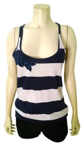 Hollister Size X-small Sleeveless Top navy, white